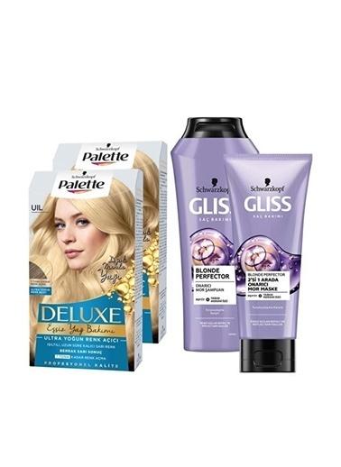 Gliss Uıl Ultra Yoğun Renk Açıcıx2 Adet+Blonde Perfector Mor Şampuan 250Ml+Blonde Perfector Mor Maske 200Ml Renksiz
